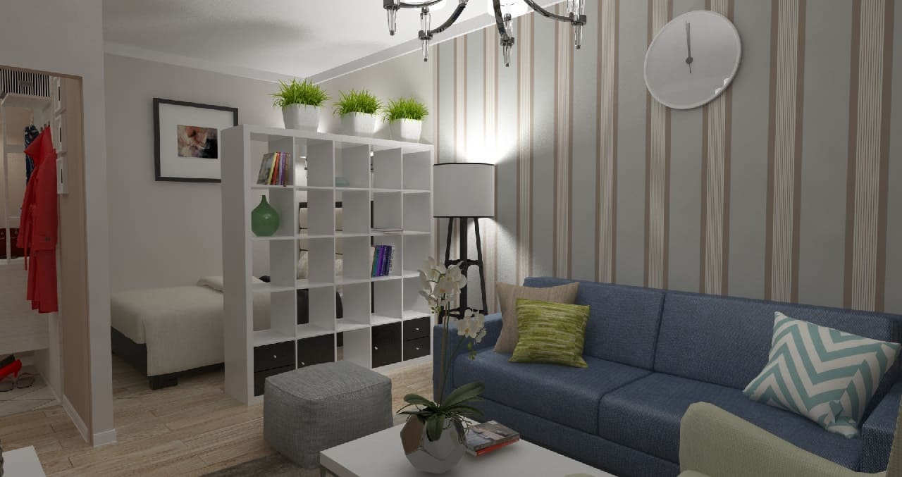 Как расширить однокомнатную квартиру