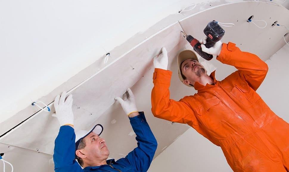 Технология монтажа гипсокартона на потолок